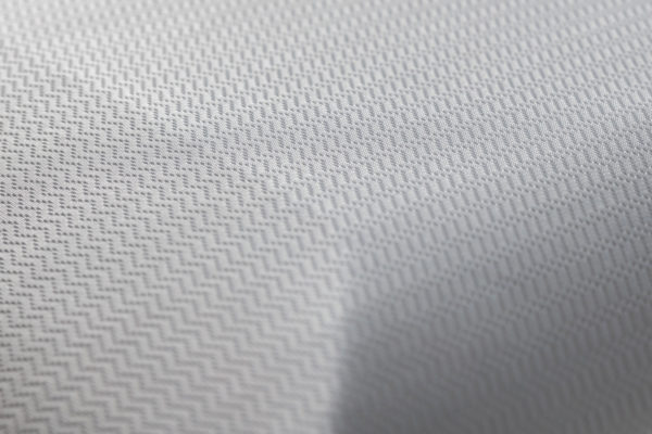 close up of cooling fabric on neck pain pillow