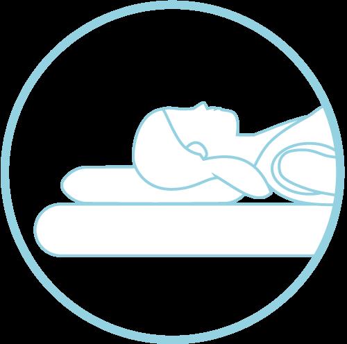 child sleeping on neck pain pillow