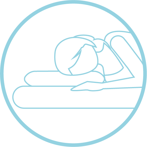side sleeper on a neck pain pillow