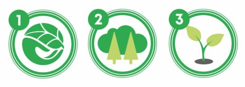 green sustainability icons