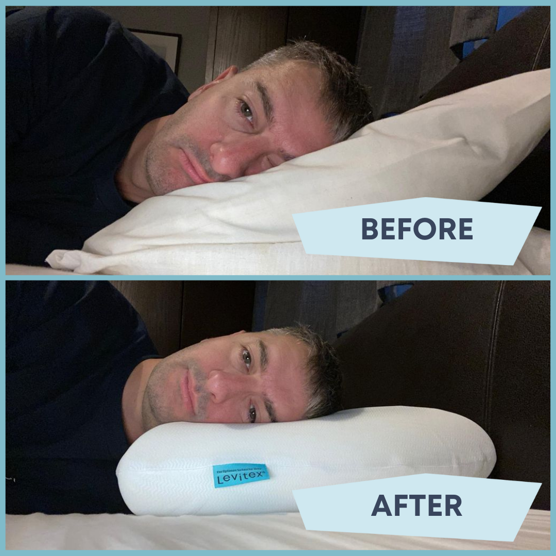 before after finding best pillow shoulder pain